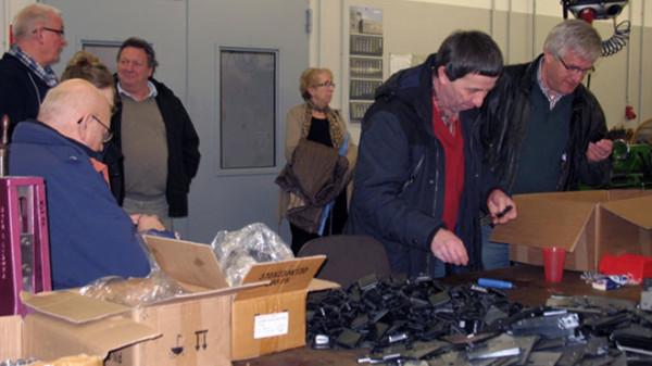 Bild vom Besuch in den Werkstätten